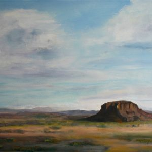 Lone Mesa - oil on museum series gesso bord, 8 x10 inches, ©2015 - SOLD