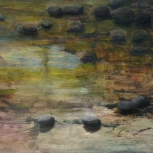 Mud Rocks at Sunset; oil on clay bord; 8 x 10 inches; ©2009 - SOLD
