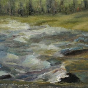 Rapids I - oil on canvas panel; 8 x10 inches; ©2009