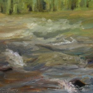 Rapids II - oil on canvas panel; 8 x 10 inches; ©2009