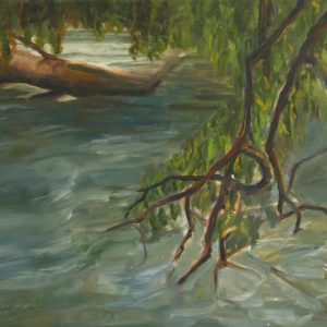 River Branches - oil on gesso bord; 9 x 12 inches; ©2009
