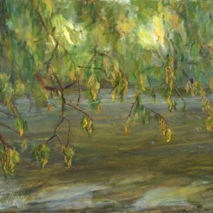 River Branches Yellow - oil on gesso bord; 9 x 12 inches; ©2009 - SOLD