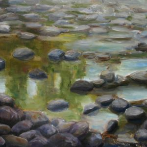 River Rock Pools - oil on gesso bord; 9 x 12 inches; ©2009 - SOLD
