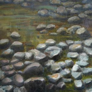 River Rocks - oil on canvas panel; 10 x 8 inches; ©2009