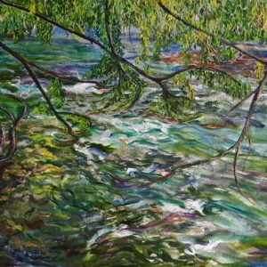 Yakima River Yellow II - oil on canvas; 20 x 35-3/4 inches; ©2006