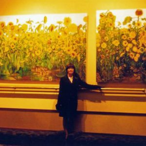 Claire E. Hurrey at the Washington Center for Performing Arts, Olympia WA; Solo Exhibition 2003; Photo Credit: Phillip Anderson Jr.