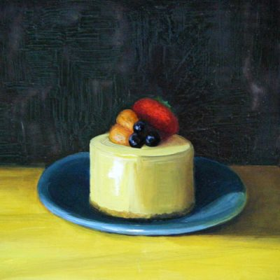 Cheesecake 3 - oil on clapboard; 8 x 10 inches; ©2009