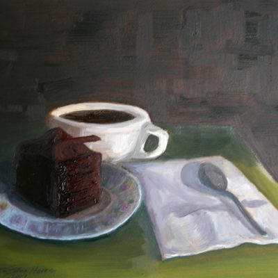 Chocolate Mysteries - oil on gessoed board; 8 x 10 inches; ©2009