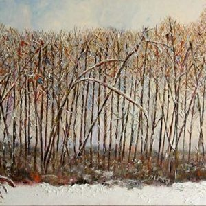 Cottonwood Thaw - oil on canvas; 26 x 48 inches; ©1999 - SOLD