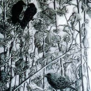 Crows - charcoal on paper; 42 x 30 inches; ©2005