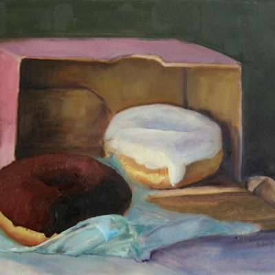 Iced Donuts - final; oil on gessoed board; 8 x 10 inches; ©2009