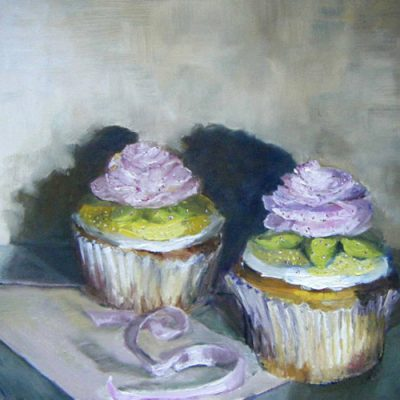 Marilyn's Cupcakes - oil on gessoed board; 9 x 12 inches; ©2009 - SOLD