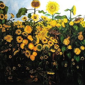Sunflower Fields Forever - oil on canvas; 68 x 80 inches; ©2003