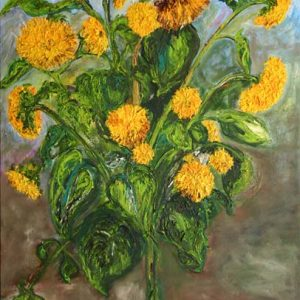 Sunflower Tree - oil on canvas; 40 x 30 inches; ©2002