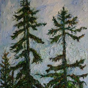 Tree Tops - oil on canvas - 24 x 20 inches; ©1999 - SOLD